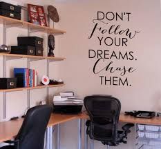 wall quotes decals trading phrases chase your dreams wall decal