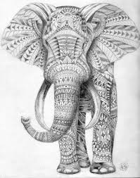 elephant colouring draw ur
