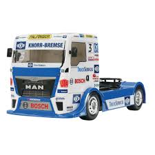 semi truck tamiya 1 10 team hahn racing man tgs 4wd semi truck kit