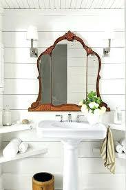 tri fold bathroom mirror tri fold wall mounted mirror wondrous design bathroom mirrors