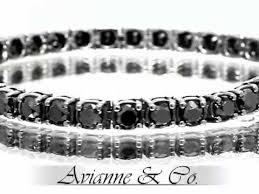 black bracelet white gold images 14k white gold mens diamond tennis bracelet with black diamonds jpg