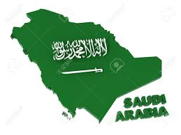 Arabia Map Saudi Arabia Map With Flag 3d Illustration Isolated On White