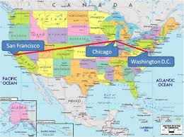 New Mexico On Map Chicago On Map Of Usa Chicago On Usa Map United States Of America