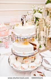 Big Wedding Cakes Pink White Wedding Cake Roses Stock Photo 105040427 Shutterstock