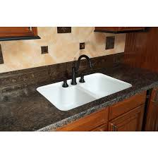 Sink With Double Faucet Kitchen Sinks Hampton Double Equal Bowl Under Mount Sink W