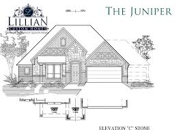 the juniper bluebird meadows new home floor plan burleson texas
