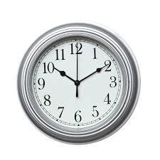 foxtop minimalist wall clock digital quiet sweep 9 inches home