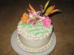 hawaiian flower birthday cake custom cakes virginia beach