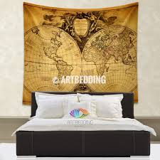 Map Tapestry Wall Hanging Tapestry Wall Shelves