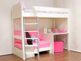 High Sleeper With Sofa Stompa Casa 2 Polka Dot Pink Highsleeper Bed Decor Pinterest