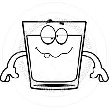 margarita clipart black and white cartoon shot of whiskey drunk black and white line art by cory