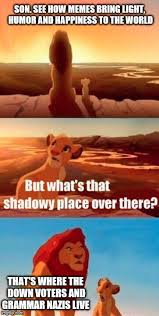 Happiness Meme - simba shadowy place meme imgflip