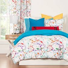 Solid Colored Comforters Bedding Winsome Crayola Splat Comforter Set Solid Blue Reverse