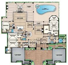 mediterranean floor plans mediterranean style house plan 4 beds 4 5 baths 4817 sq ft plan