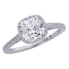 Cushion Cut Halo Diamond Engagement Ring In Platinum Gia Certified 1 07 Carat Classic Halo Diamond Engagement Ring