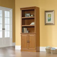 2 Shelf Bookcase With Doors Orchard Library With Doors 402173 Sauder