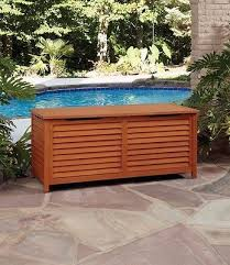 Patio Storage Cabinets Patio Deck Box Outdoor Storage Cabinet Garden Bench Pool Wood