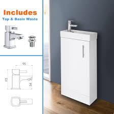 White Bathroom Storage by White Bathroom Vanity Unit Ceramic Basin Sink Oak Ebony Storage