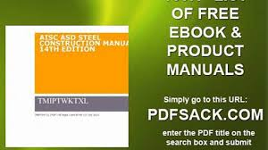 aisc asd steel construction manual 14th edition video dailymotion