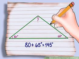 What Are The Interior Angles Of A Hexagon 3 Ways To Find The Third Angle Of A Triangle Wikihow