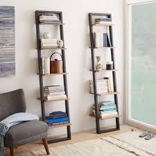 ladder style bookshelves storage ideas
