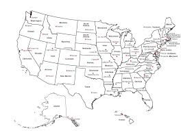 United States Map Outline by Clipart United States Map With Capitals And State Names Us