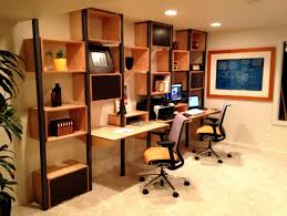 Modular Office Furniture For Home Home Office Cool Home Office Design With Brown Wall Mounted Desk