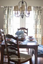 Dining Room Curtain Panels by Golden Boys And Me Blue U0026 White U0026 A New Chandelier