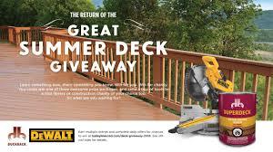 return of the great summer deck giveaway baileylineroad