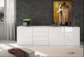 interior design simple modern wall units with beige fur rug and