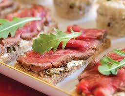 beef canape recipes beef fillet canapés with caper butter