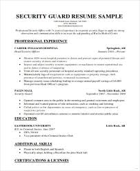 security officer resume security officer resume sle objective for 14 guard