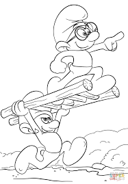 smurfs the lost village coloring page free printable coloring pages