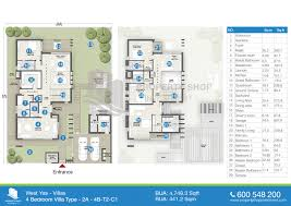 7000 Sq Ft House Plans Floor Plan Of West Yas Villas Yas Island