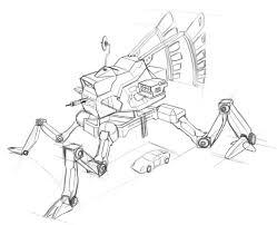 concept art robot sketching tutorial part 2 youtube