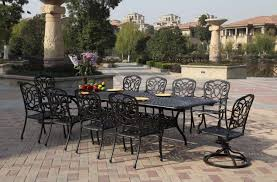 Aluminum Outdoor Patio Furniture by Patio Furniture Dining Set Cast Aluminum 92 U201d 120 U201d Extension Table