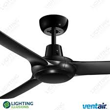 ceiling fan outdoor blades black spyda 3 blade 49 indoor outdoor designer ceiling fan
