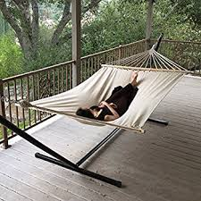 amazon com deluxe extra large tan hammock swing chair extra