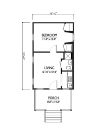 bedroom guest house floor plans cottage style plan beds baths sqft