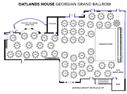 Georgian Floor Plan by Georgian Grand Ballroom Oatlands House