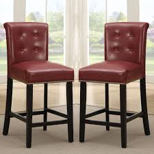red counter height stools red leather swivel bar stools dark red