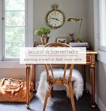 why not to paint a small room white popsugar home
