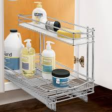2 tier cabinet organizer lynk roll out under sink cabinet organizer pull out two tier