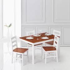 5pcs modern natural pine wood rectangular dining room table