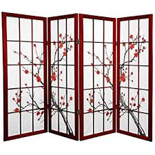 Asian Room Dividers by Amazon Com Oriental Furniture 4 Ft Tall Cherry Blossom Shoji