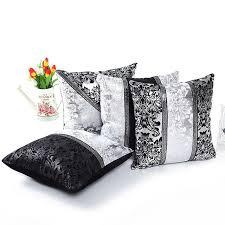 taie d oreiller pour canapé noir ruban floral jet de housse de coussin patchwork taie d oreiller