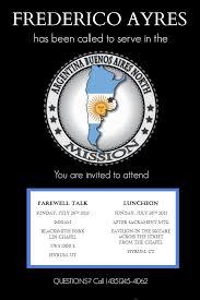 farewell invitation elder frederico ayres missionary farewell invitation