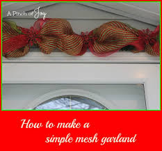 christmas mesh ribbon how to make a simple mesh garland
