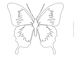 printable butterfly stencils for walls painting template a4