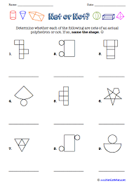 3 d shapes worksheets free printables